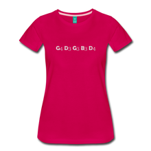 Load image into Gallery viewer, Women's Banjo Tuning T-Shirt - dark pink