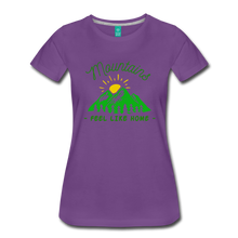 Load image into Gallery viewer, Women's Mountains Feel Like Home T-Shirt - purple
