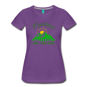 Women's Mountains Feel Like Home T-Shirt - purple