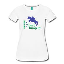 Load image into Gallery viewer, Women's Just Jump It T-Shirt - white