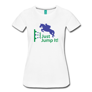 Women's Just Jump It T-Shirt - white