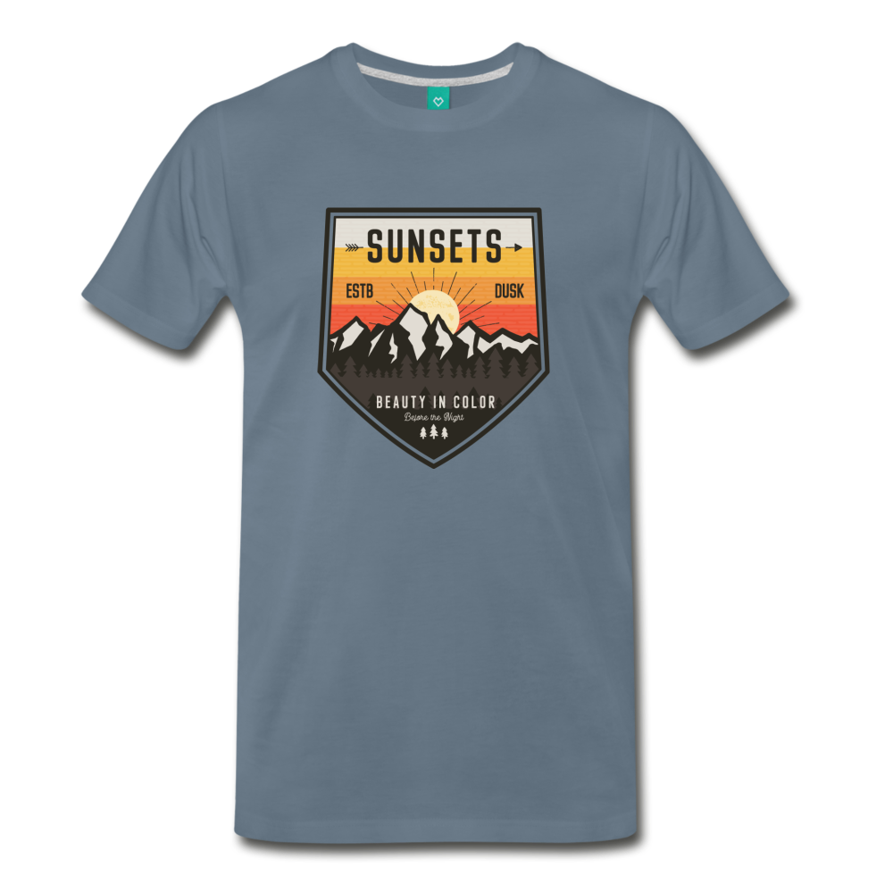 Men's Sunset T-Shirt - steel blue