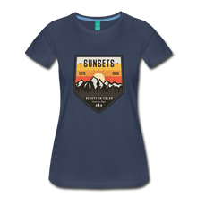 Load image into Gallery viewer, Women's Sunset T-Shirt - navy