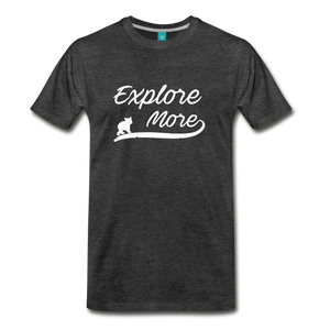 Men's Explore More T-Shirt - charcoal gray