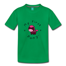 Load image into Gallery viewer, Kids' My First Pony T-Shirt (magenta) - kelly green