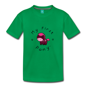 Kids' My First Pony T-Shirt (magenta) - kelly green