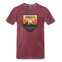 Load image into Gallery viewer, Men's Sunset T-Shirt - heather burgundy