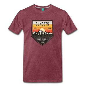 Men's Sunset T-Shirt - heather burgundy