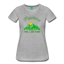 Load image into Gallery viewer, Women's Mountains Feel Like Home T-Shirt - heather gray