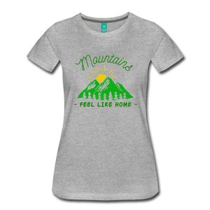Women's Mountains Feel Like Home T-Shirt - heather gray