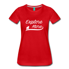 Load image into Gallery viewer, Women's Explore More T-Shirt - red