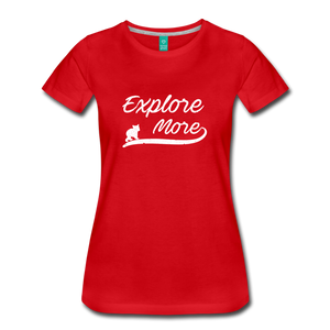 Women's Explore More T-Shirt - red