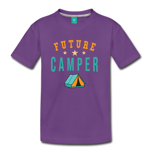 Kids' Future Camper T-Shirt - purple