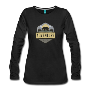Women's Adventure Life Long Sleeve Shirt - black