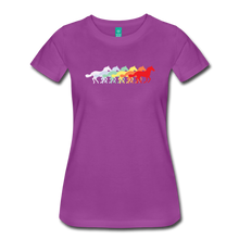 Load image into Gallery viewer, Women's Retro Rainbow Horse T-Shirt - light purple