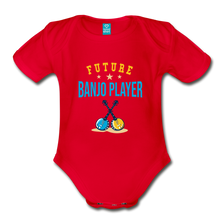 Load image into Gallery viewer, Future Banjo Player Baby Bodysuit - red