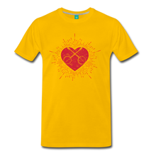 Load image into Gallery viewer, Men's Sunburst Heart Banjo T-Shirt - sun yellow