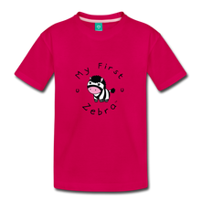 Load image into Gallery viewer, Toddler My First Zebra T-Shirt - dark pink