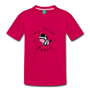 Toddler My First Zebra T-Shirt - dark pink