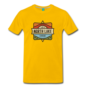 Men's North Lake T-Shirt - sun yellow