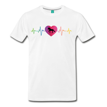 Load image into Gallery viewer, Men's Horse Heartbeat T-Shirt - white