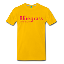 Load image into Gallery viewer, Men's Bluegrass Kinda Life T-Shirt - sun yellow