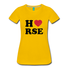 Load image into Gallery viewer, Women's Horse Large Letters T-Shirt - sun yellow