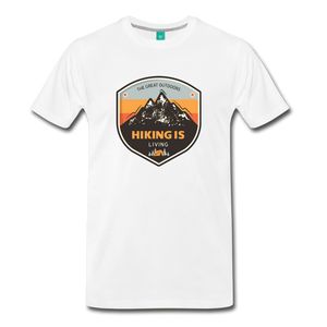 Men's Hiking T-Shirt - white