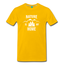 Load image into Gallery viewer, Men's Nature T-Shirt (white) - sun yellow