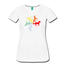 Load image into Gallery viewer, Women's Rainbow Horse Circle T-Shirt - white