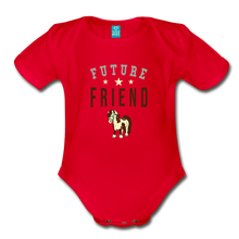 Load image into Gallery viewer, Future Friend Baby Bodysuit - red