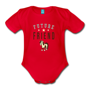 Future Friend Baby Bodysuit - red