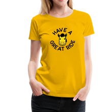 Load image into Gallery viewer, Women's Have a Great Ride T-Shirt - sun yellow