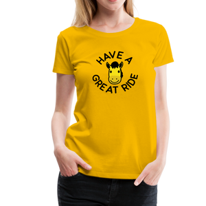 Women's Have a Great Ride T-Shirt - sun yellow