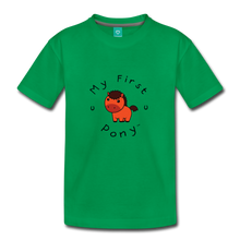Load image into Gallery viewer, Toddler My First Pony T-Shirt (red) - kelly green