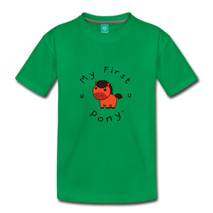 Toddler My First Pony T-Shirt (red) - kelly green