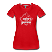 Load image into Gallery viewer, Women's The Peak Horse Diamond T-Shirt - red