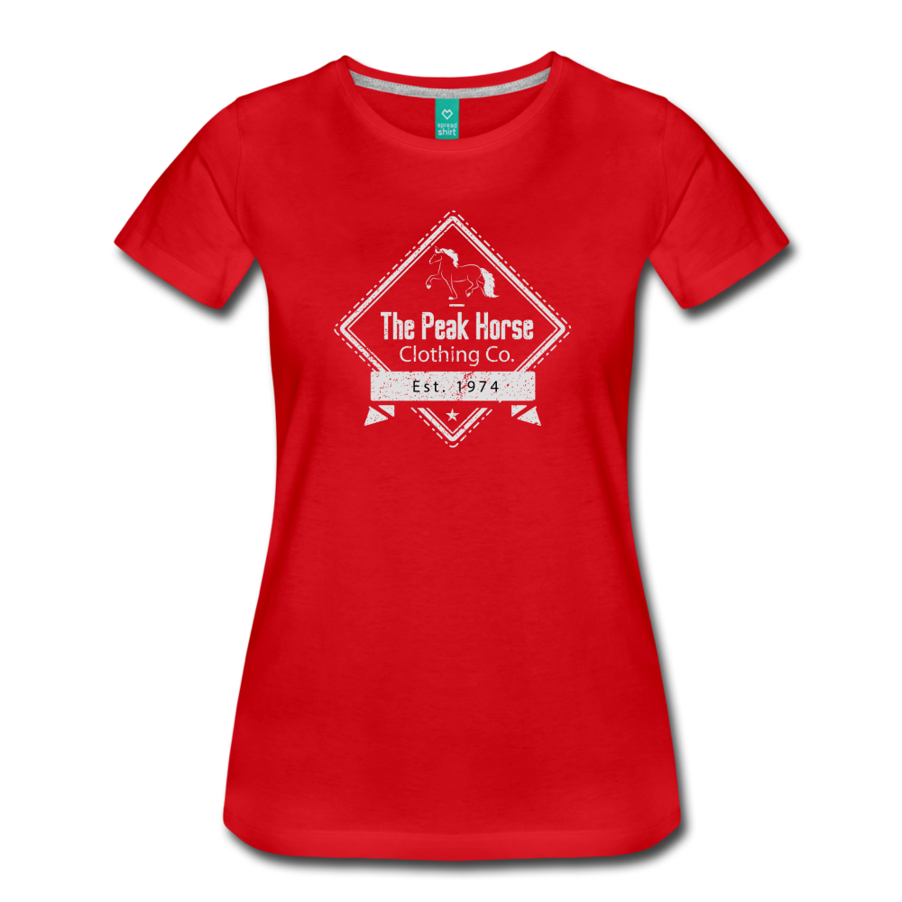 Women's The Peak Horse Diamond T-Shirt - red