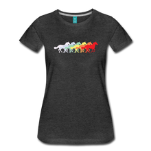 Load image into Gallery viewer, Women's Retro Rainbow Horse T-Shirt - charcoal gray
