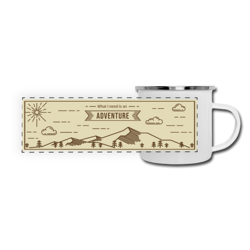 What I Need is an Adventure Camper Mug - white