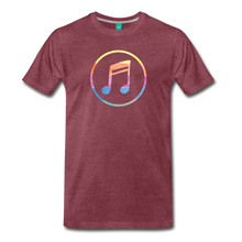Load image into Gallery viewer, Men's Colored Music Note T-Shirt - heather burgundy