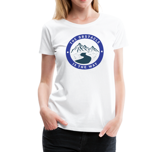 Women's Obstacle is the Way T-Shirt - white