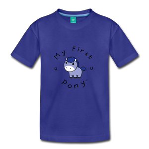 Kids' My First Pony T-Shirt (blue patch) - royal blue