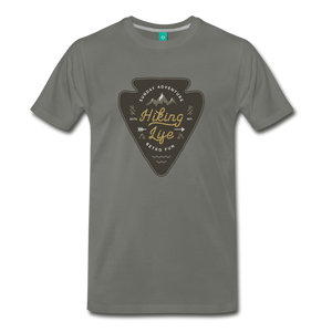 Men's Hiking Life T-Shirt - asphalt
