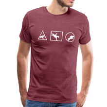 Load image into Gallery viewer, Men's Horse Symbols (solid) T-Shirt - heather burgundy