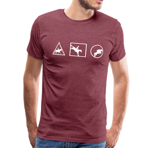 Men's Horse Symbols (solid) T-Shirt - heather burgundy