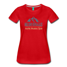 Load image into Gallery viewer, Women's Bluegrass Mountains Speak T-Shirt - red