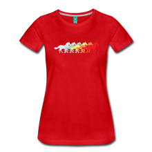 Load image into Gallery viewer, Women's Retro Rainbow Horse T-Shirt - red