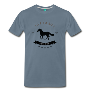Men's Live to Ride T-Shirt - steel blue