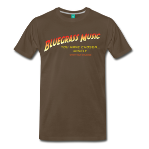 Men's Bluegrass Chosen Wisely T-Shirt - noble brown